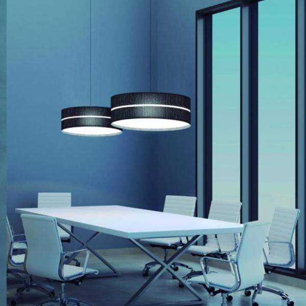 Luminarias en suspensión Aro 2X fabricada por El Torrent