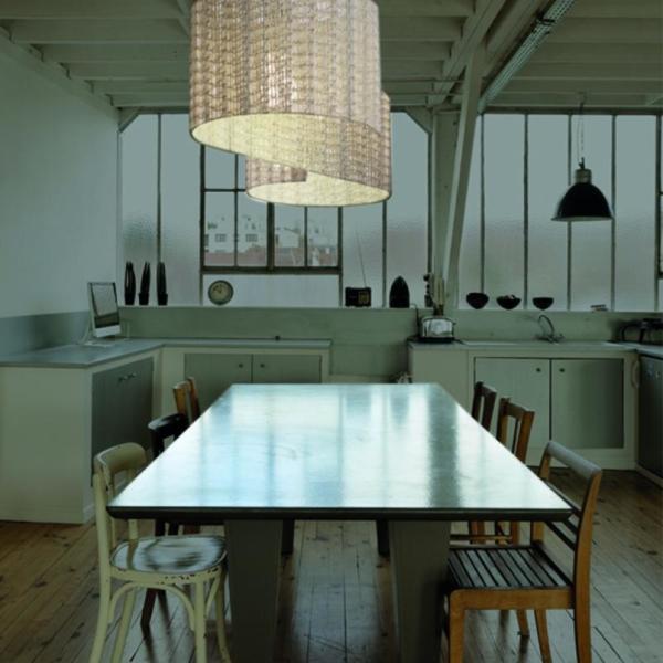 Duna lámpara de suspensión en cocina fabricada por El Torrent