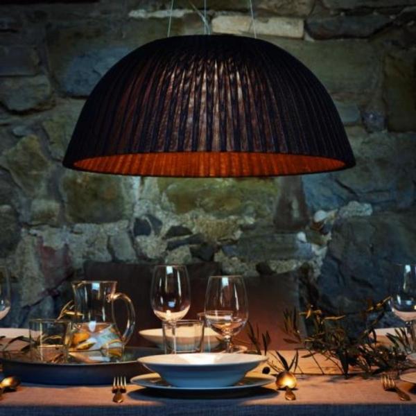 Eva lámpara decorativa marrón  en suspensión fabricada por El torrent