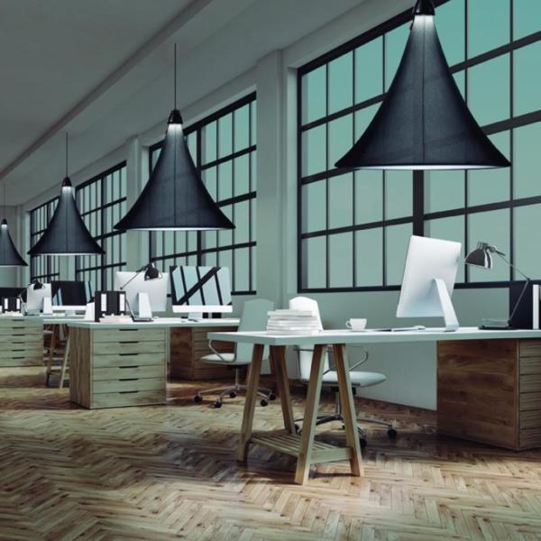 Luminaria decorativa Flux en textil fabricada por El Torrent