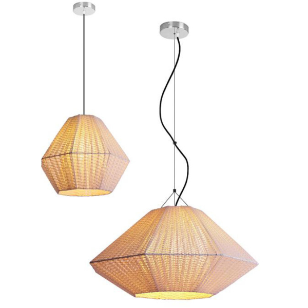 Luminaria en suspensión decorativa Gemma para interior fabricada por El Torrent