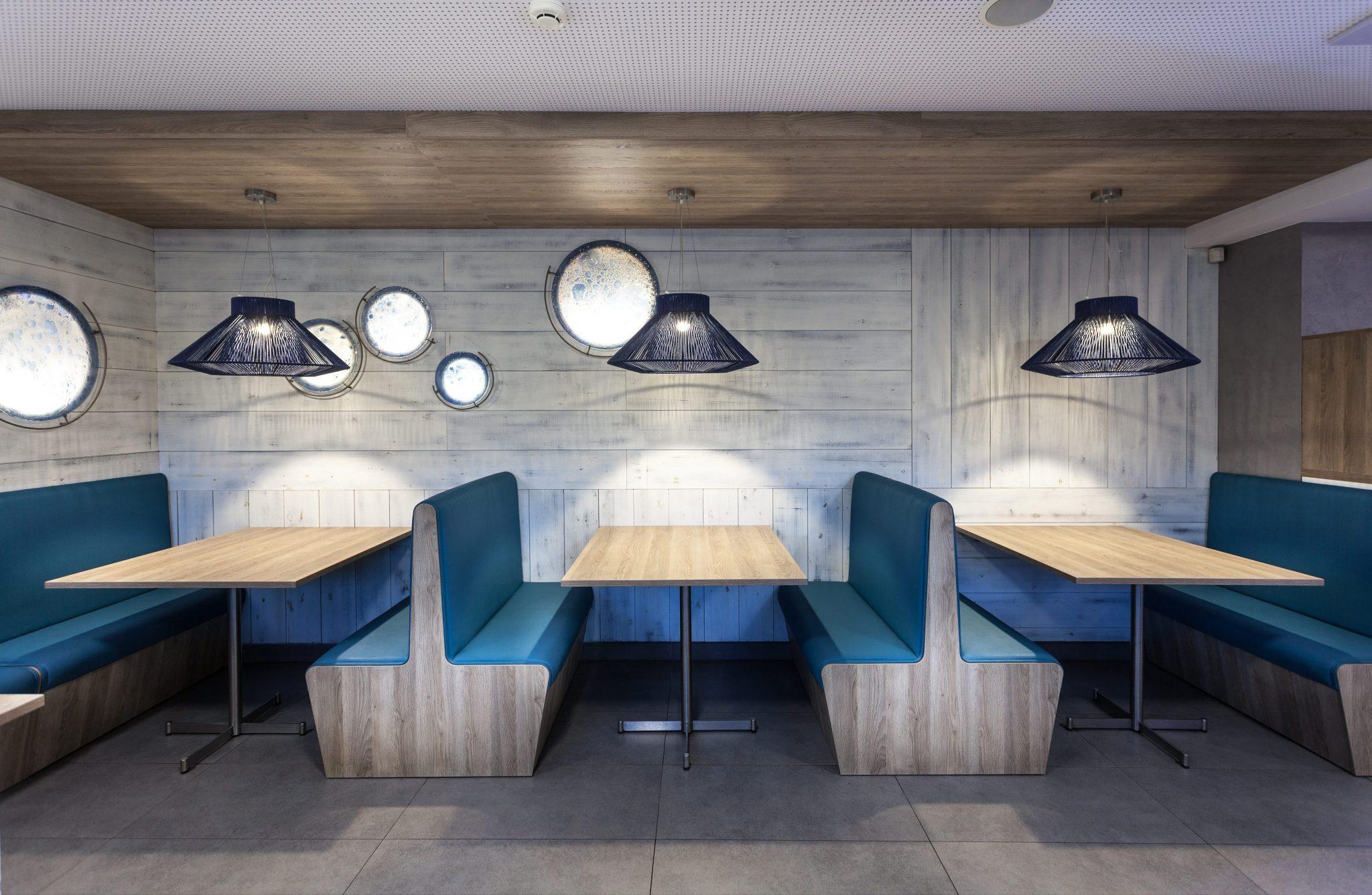Lámparas Koord en las pizzerías Atlàntida