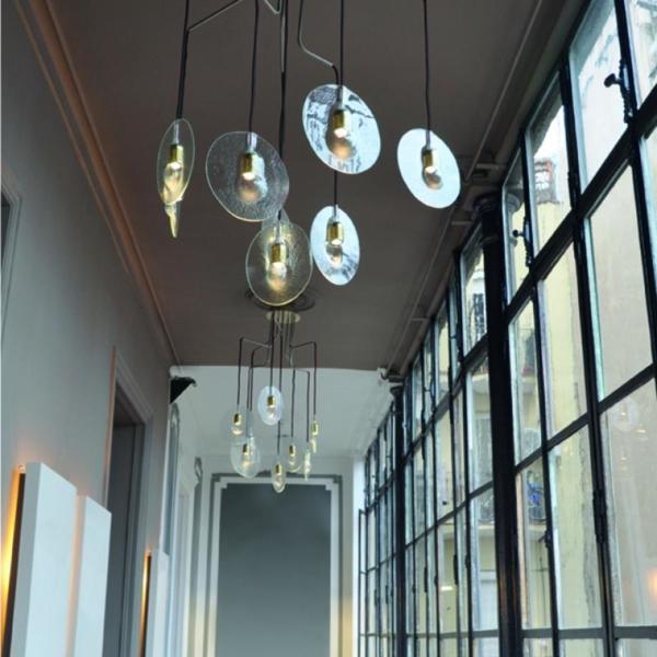 Luminaria en suspensión decorativa ODA para interior fabricada por El Torrent