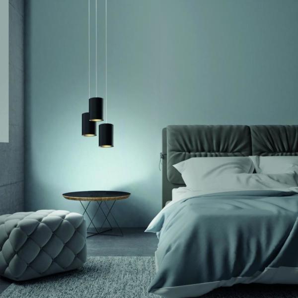 Luminaria Decorativa Tub fabricada por El Torrent - en dormitorio