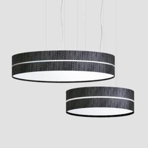 Aro doble  lámpara de suspensión fabricada por El Torrent