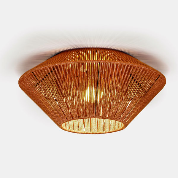Luminaria decorativa tipo plafón Koord fabricada por El Torrent