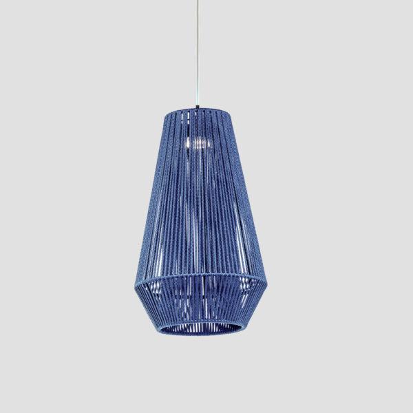 Luminaria decorativa Koord en cordón textil fabricada por El Torrent