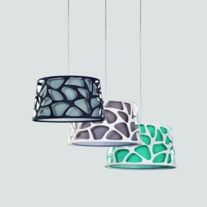 Organic lámpara de suspensión fabricada por El Torrent varios colores