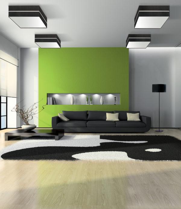 Plafon en ambiente verde fabricado por El torrent