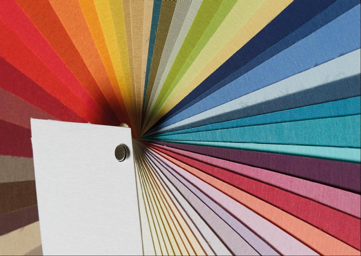 Materiales de algodón de colores